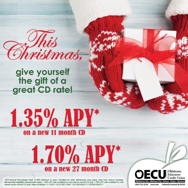 This Christmas Give Yourself The Gift Of A Great Cd Rate
