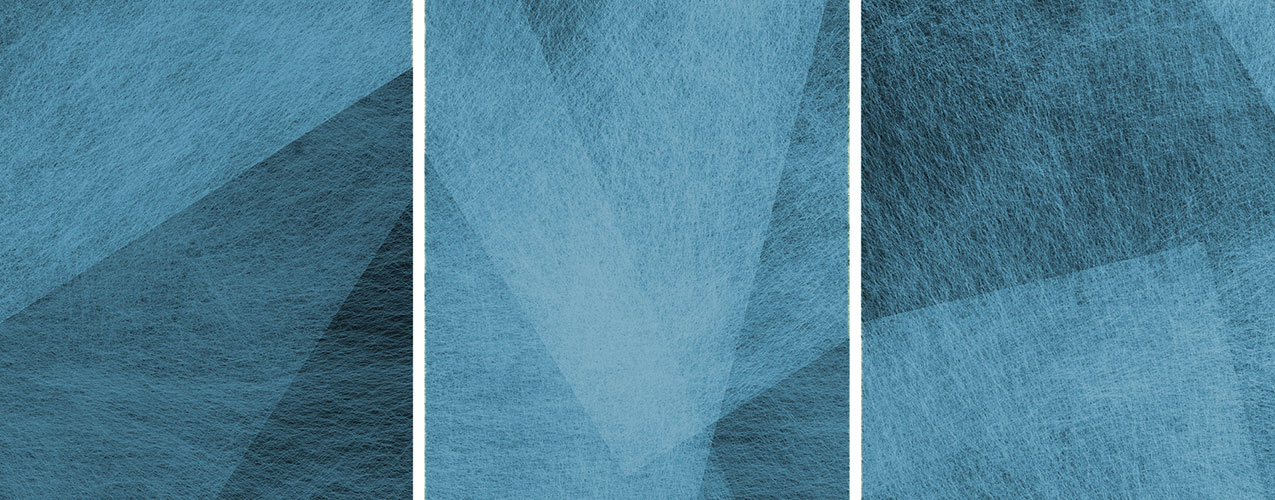 Abstract background with blue overcast with 3 columns and white bars separating each column