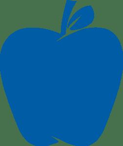 Blue apple logo with transparent background