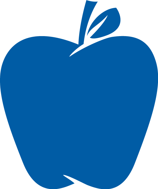 Blue apple logo with transparent background
