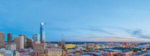 Panoramic view of Oklahoma City skyline