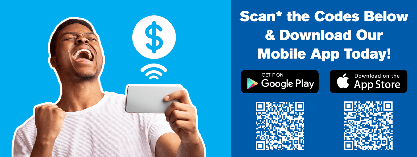 Scan the codes below for our mobile apps!